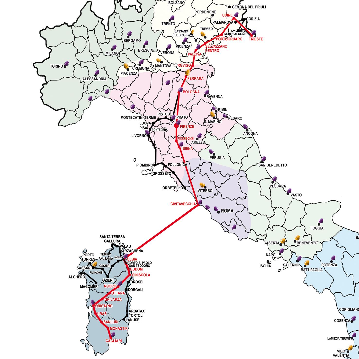 Map Of Sardinia Nice And Large Mappe Stradali Sardegna Mappe